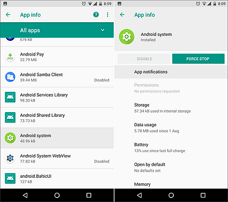 Using the Force Stop Option to Stop Apps Running in the Background on Android.