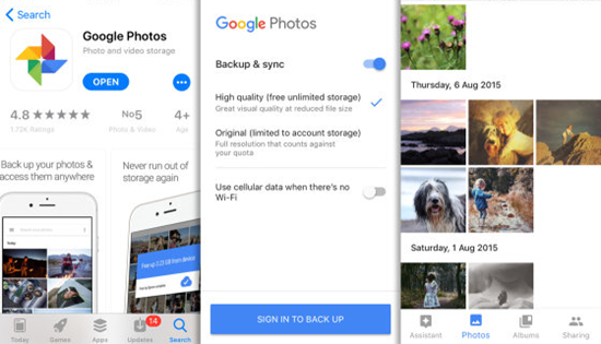 Retrieve Deleted Photos from Cloud Storage Service like Google Photos