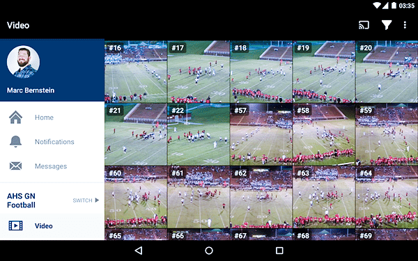 Hudl Technique is one of the top slow motion video Apps for Android.