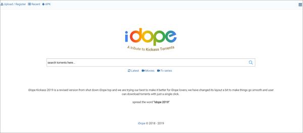 iDope is one of the best Alternatives to Torrentz website.