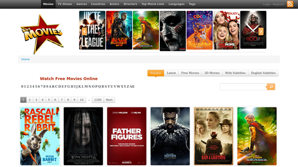 Los Movies is one of the top movie4k alternatives sites for you.