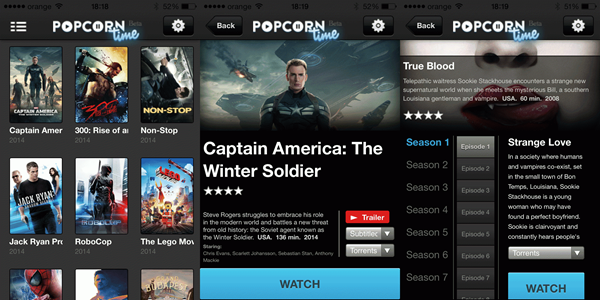 Popcorn Time is one of the best Alternatives to Torrentz website.