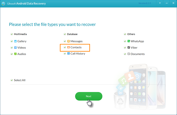 Recover Deleted Contacts and Call History from Android