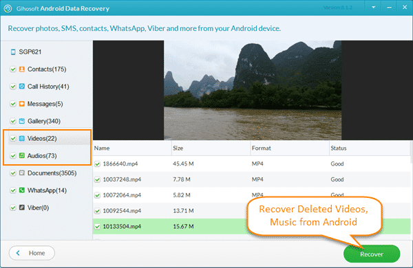 Recover Deleted Videos from Android