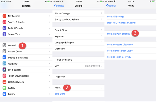 Reset the Network Settings of iPhone