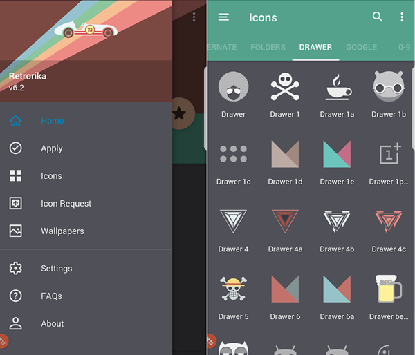 Retrorika is one of the top Icon Packs for Android.