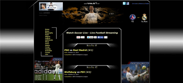 Ronal07 is one of the best Football Live Streaming Sites to Watch Soccer Live on TV.
