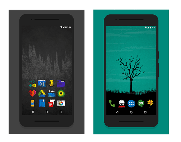 Ruggon is one of the top Icon Packs for Android.