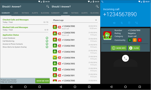 Should I Answer is one of the best Call Blocker Apps for Android.