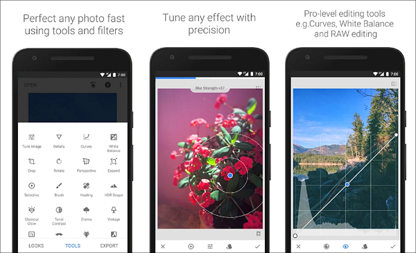 Snapseed is one of the best Instagram Story Template Apps for Android.
