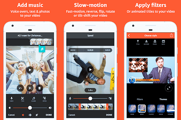 Videoshop is one of the top slow motion video Apps for Android.