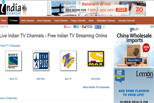 ndia Everyday TV is one of the popular Websites to Watch Indian Live Television.