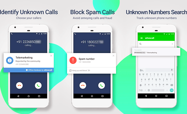 Whoscall is one of the best Call Blocker Apps for Android.