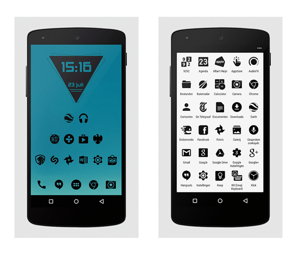Zwart- Black Icon Pack is one of the top Icon Packs for Android.