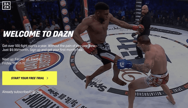 DAZN is one of the best live sports streaming sites.