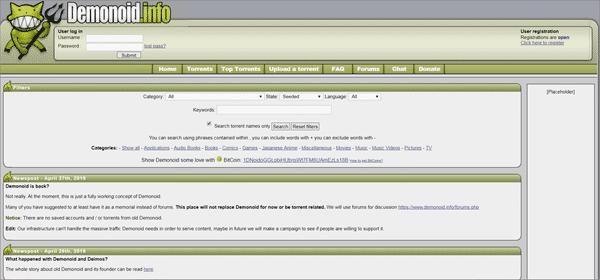 Demonoid is one of the top best 1337X Alternative Torrent Websites.