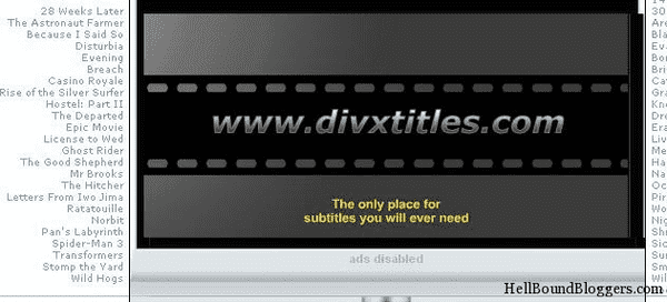 Using DivX Titles to download Subtitles for Movies easily.