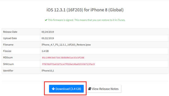 Replace iOS 13 Beta Profile with iOS 12 IPSW File (without iTunes/Computer)