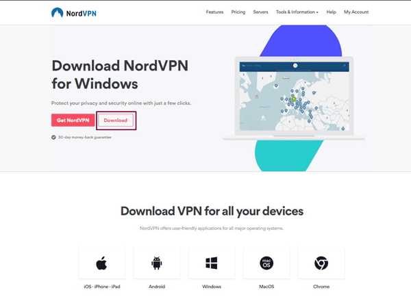 Using the NORD VPN to get access to torrent websites