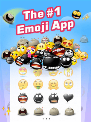 EmojiFree is one of the top WhatsApp emoticon apps for iPhone.