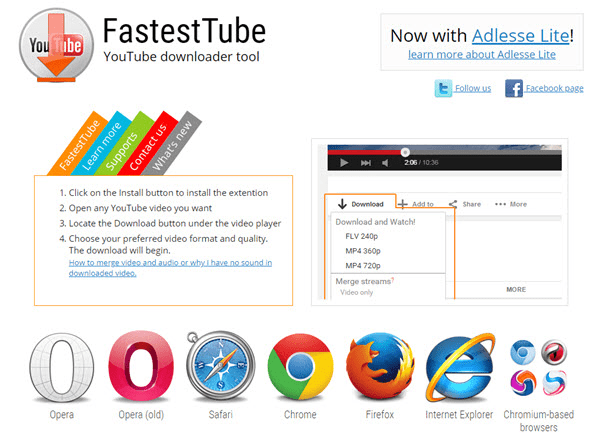 Using FastestTube to fastest download YouTube videos.