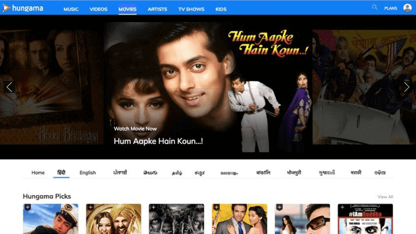 Hungama Movies is one of the best websites to watch latest Hindi movies.