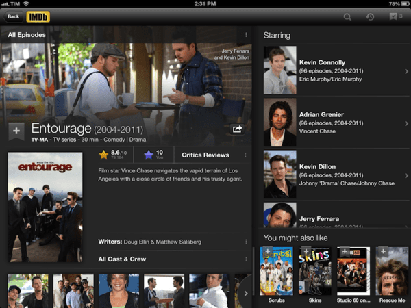 IMDB is one of the best Must-Have Apps for your iPad.