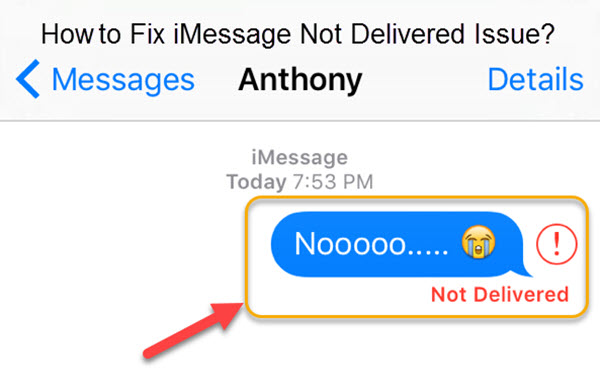 iMessage Not Delivered on Your iPhone