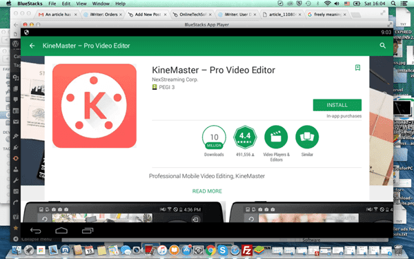 To download KineMaster for Windows