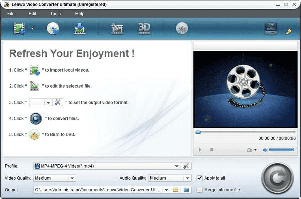 Leawo Video Converter Ultimate is one of the best 4K Video Downloader Alternatives.
