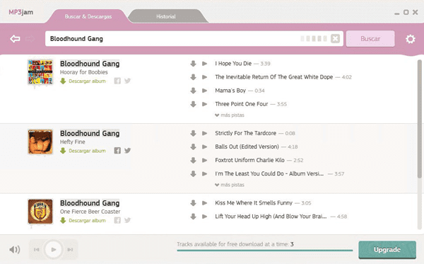 MP3Jam is one of the best free music download sites like MP3BOO.