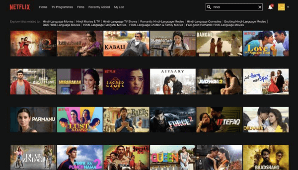 Netflix is one of the best websites to watch latest Hindi movies.