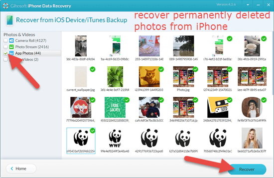 How to recover permanently deleted iPhone photos