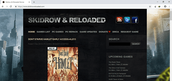SKIDROWRELOADED is one of the best torrent websites in India.
