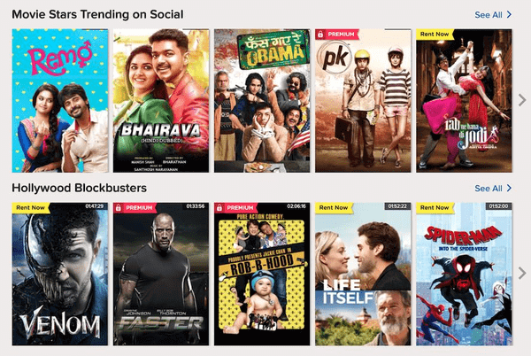 SonyLiv is one of the best websites to watch latest Hindi movies.