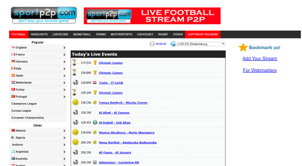 SportP2P is one of the top WiziWig alternative free sports streaming sites.