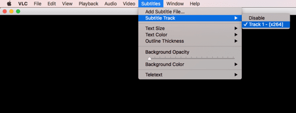 How to manually switch Subtitles tracks for a video.