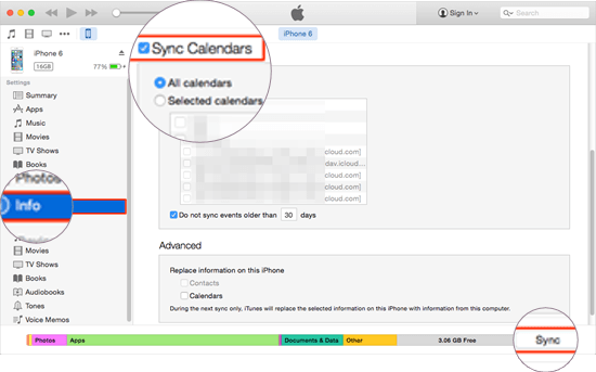 Get iPhone Calendar to Sync with Computer