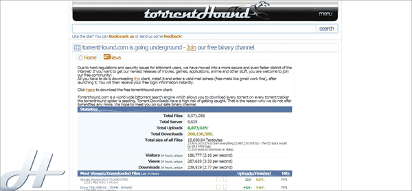 TorrentHound.cc is one of the top best 1337X Alternative Torrent Websites.