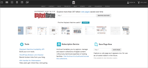 Wayback Machine is one of the top best deep web search engines.