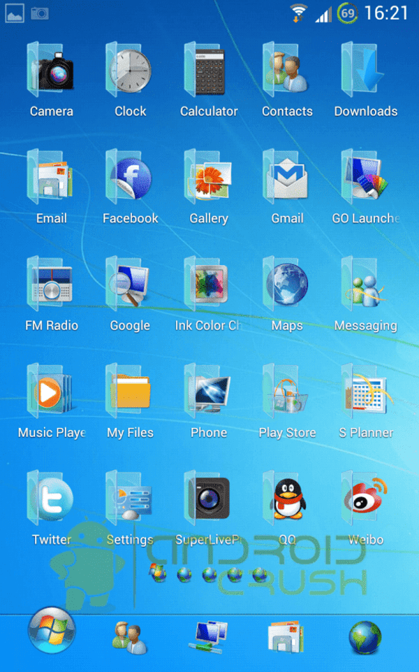 Why Windows 7 launcher for Android devices?