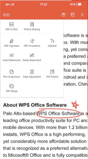 WPS Office is one of the must-have Android Apps to get the most out of your phone.