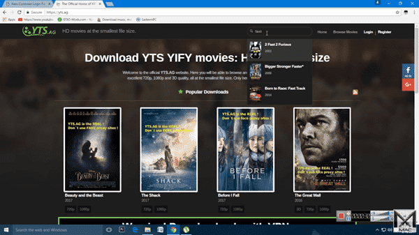 YIFY Movies is one of the top alternatives to 123Movies.