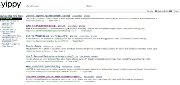 Yippy is one of the top best deep web search engines.