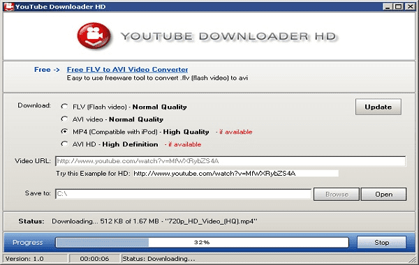Using YouTube Downloader HD to fastest download YouTube videos.