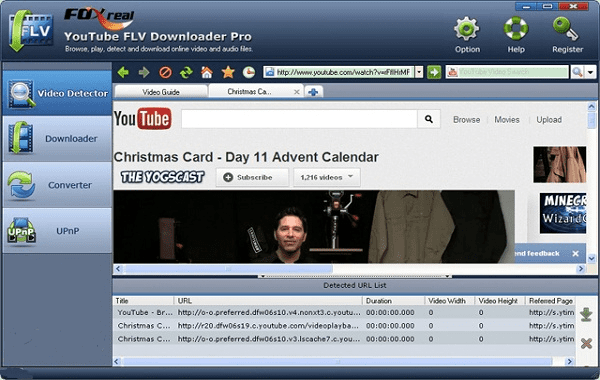 Using YouTube FLV Downloader Pro to fastest download YouTube videos.