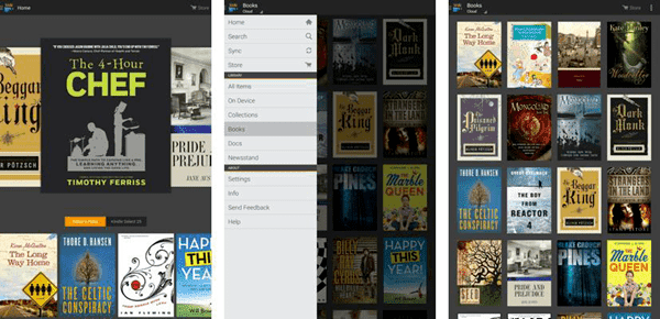 Amazon Kindle is one of the top eBook reader apps for Android.