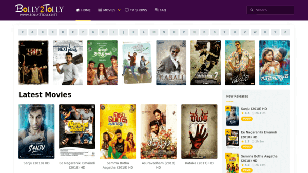 Bolly2Tolky is a site giving access to all types of Bollywood and Tollywood movies.
