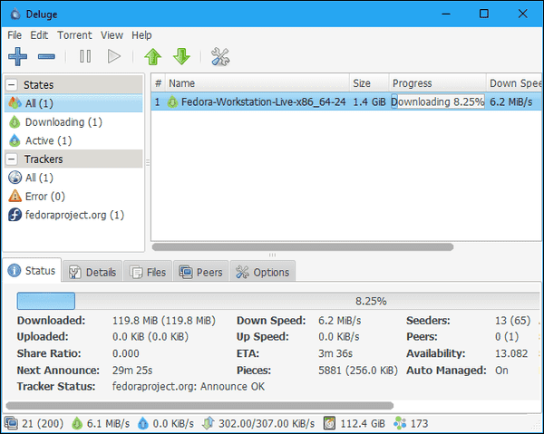 Deluge is another torrent site listed as the alternative to uTorrent with exclusive features and tools.