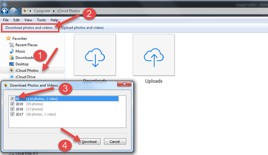 How to Download All iCloud Photos to PC.